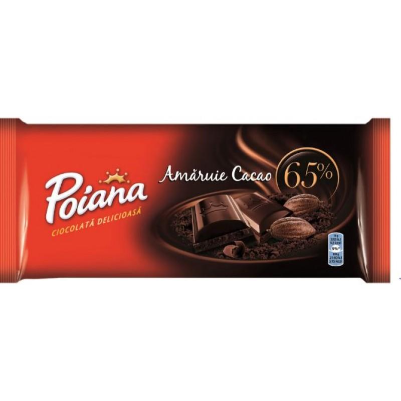 Poiana Ciocolata Amaruie Cacao 65% 80g *26