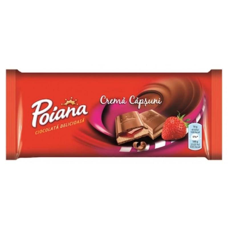 Poiana Ciocolata Crema Capsuni 90g * 25