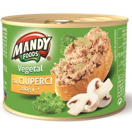 Mandy Pate vegetal Ciuperci 200g *6