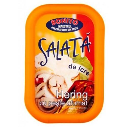 Pescado Bonito Salata Icre Hering Cu Peste Afumat 310g *5